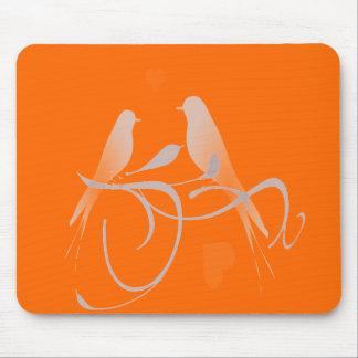 Deep Orange Mouse Pad