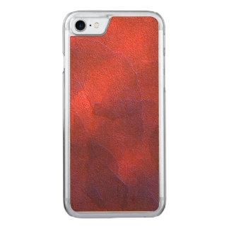 Deep Orange with Vivid Purple Blue Highlights Art Carved iPhone 7 Case