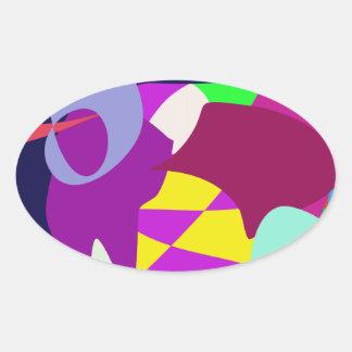 Deep Oval Sticker