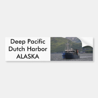 Deep Pacific, Longliner in Dutch Harbor, AK Bumper Sticker