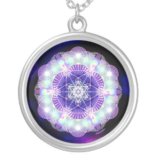 Deep Peace Silver Plated Necklace