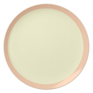 Deep Peach and Cream Plate