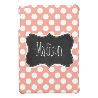 Deep Peach Polka Dots; Chalkboard iPad Mini Cases