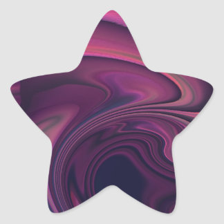Deep Pink Abstract Art Star Sticker