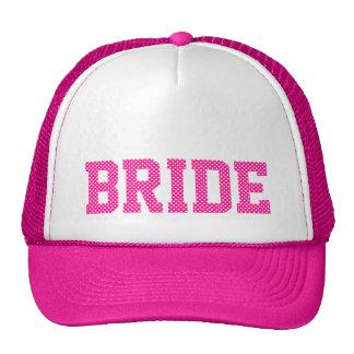 Deep Pink and White Polka Dots Bride Cap