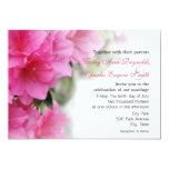 Deep Pink Azaleas Wedding or Party Invitations