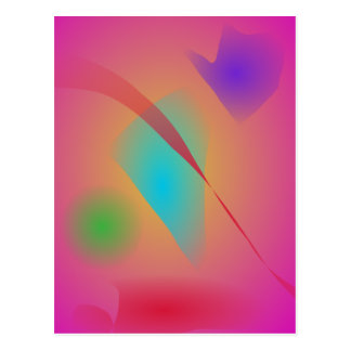 Deep Pink Contrasting Colors Postcard