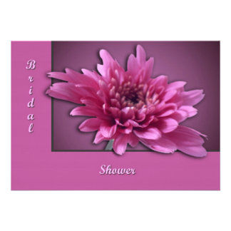 Deep Pink Daisy Personalized Invitation