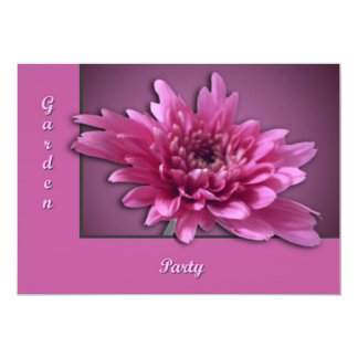 Deep Pink Daisy 5x7 Paper Invitation Card