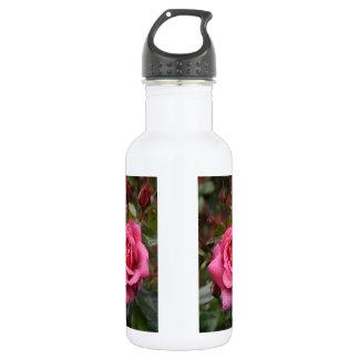 Deep Pink Dew Kissed Rose 532 Ml Water Bottle