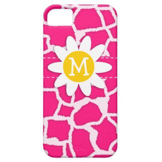 Deep Pink Giraffe Animal Print; Daisy iPhone 5 Covers