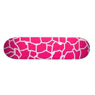 Deep Pink Giraffe Animal Print Custom Skateboard