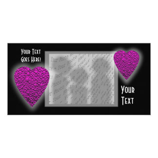 Deep Pink Heart. Patterned Heart Design. Picture Card