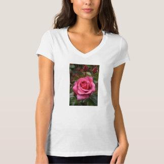 Deep Pink Morning Rose Tee Shirt