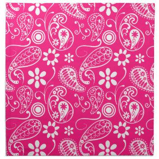 Deep Pink Paisley Napkin