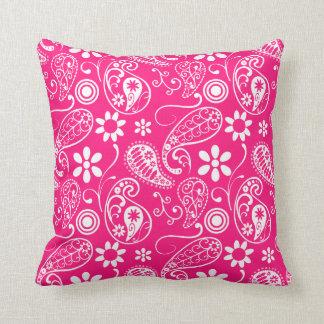 Deep Pink Paisley Cushions