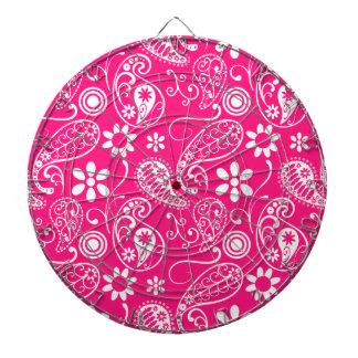 Deep Pink Paisley Dart Board
