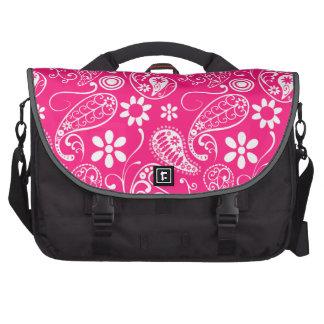 Deep Pink Paisley Laptop Computer Bag