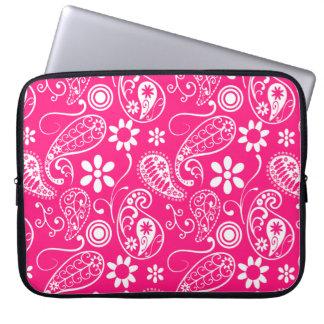 Deep Pink Paisley Computer Sleeves