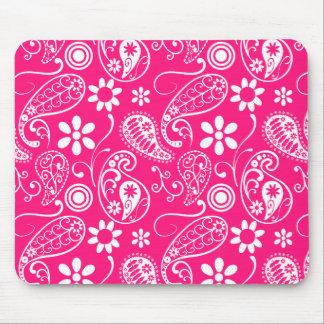 Deep Pink Paisley Mouse Pad