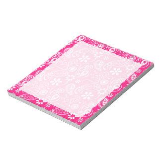Deep Pink Paisley Memo Notepads