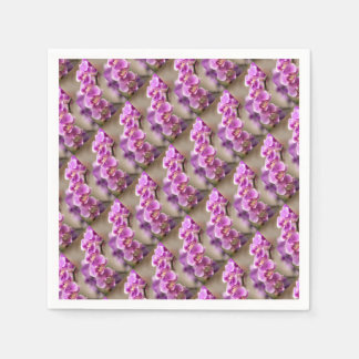 Deep Pink Phalaenopsis Orchid Flower Chain Disposable Napkin