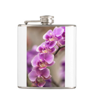Deep Pink Phalaenopsis Orchid Flower Chain Hip Flask