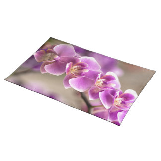 Deep Pink Phalaenopsis Orchid Flower Chain Placemat