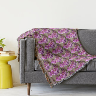 Deep Pink Phalaenopsis Orchid Flower Chain Throw Blanket
