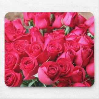 Deep Pink Rose Bouquet Mouse Pad