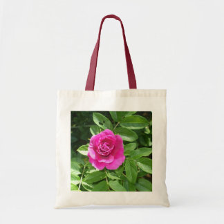 Deep Pink Rose Budget Tote Bag