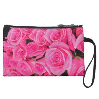 Deep Pink Rose Clutch Wristlet