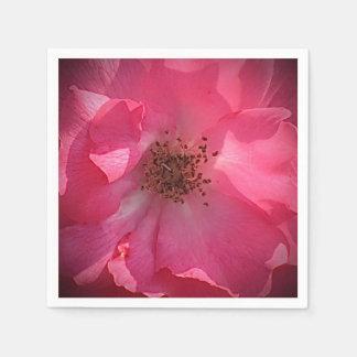 Deep Pink Rose Napkin Paper Napkin