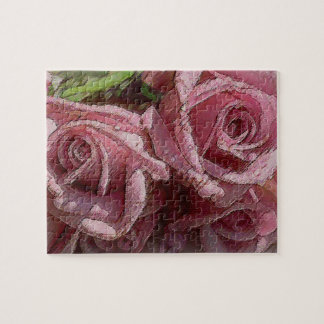 Deep Pink Roses #2 - Puzzle