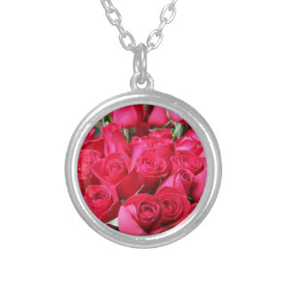 Deep Pink Roses Necklaces