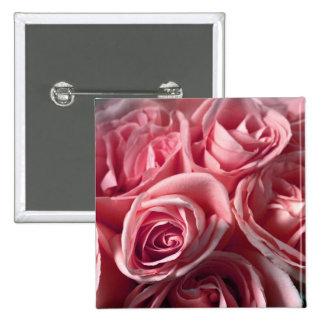 Deep Pink Roses Pinback Buttons