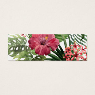 Deep Pink Tropical Flower Mini Business Card