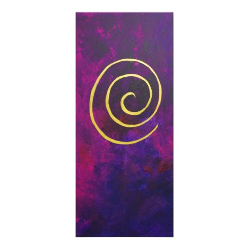 Deep Purple And Gold Modern Abstract Art Painting Custom Invites