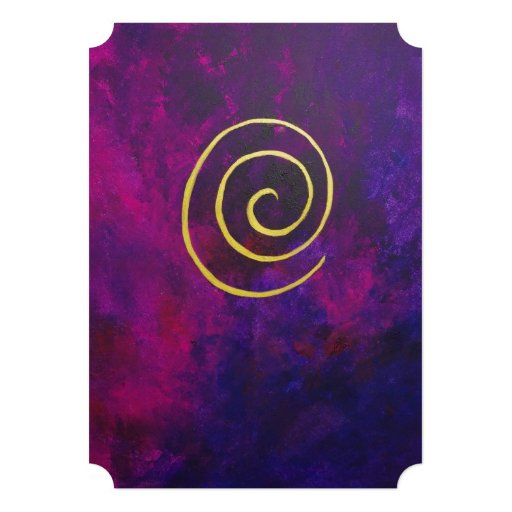 Deep Purple And Gold Modern Abstract Art Painting Announcement