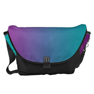Deep Purple And Teal Large Courier Bags