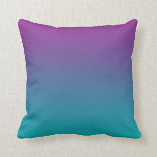"""Deep Purple And Teal Ombre"" Cushion"