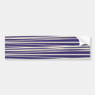Deep Purple and White Stripes Pattern Gifts Bumper Sticker