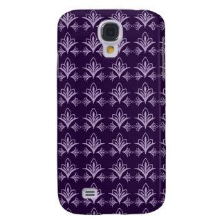 Deep Purple Art Nouveau Floral Abstract Galaxy S4 Case
