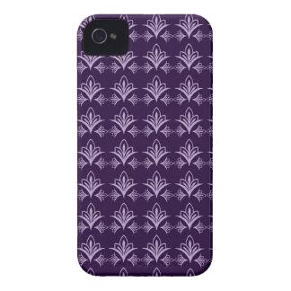 Deep Purple Art Nouveau Floral Abstract iPhone 4 Case-Mate Cases