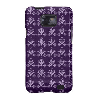 Deep Purple Art Nouveau Floral Abstract Samsung Galaxy S2 Covers