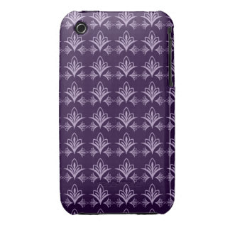 Deep Purple Art Nouveau Floral Abstract iPhone 3 Covers
