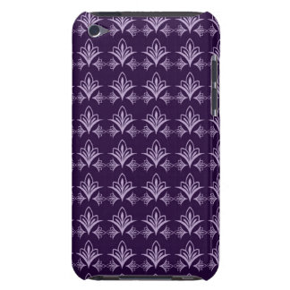 Deep Purple Art Nouveau Floral Abstract iPod Touch Cases