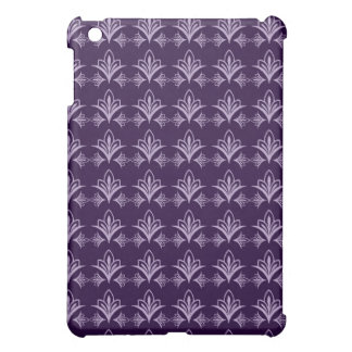 Deep Purple Art Nouveau Floral Abstract iPad Mini Cover