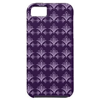 Deep Purple Art Nouveau Floral Abstract iPhone 5 Case