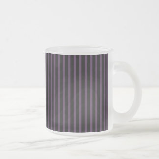 Deep Purple Black Stripe Frosted Glass Coffee Mug